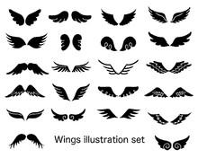 翼イラストセット