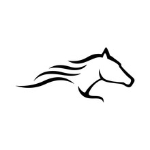 Simple Abstract Logo Horse Rac...