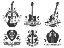 Guitar Shop Badges. Custom Gui...