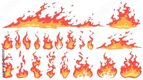 Photo Cartoon fire flames