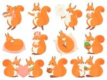Cute Squirrel Cartoon Mascot. ...