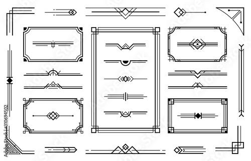 Fotomural  Linear geometric Art Deco ornaments