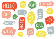 Textured Speech Bubble Signs. ...