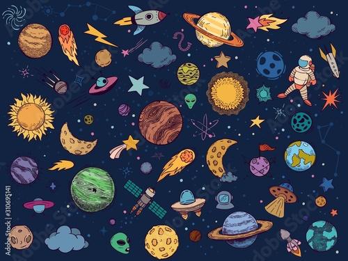 Fotografía Color space doodle