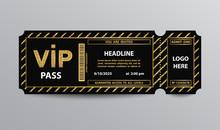 Stub VIP Pass Ticket Stub With Glittering Elements