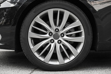 Modern Luxury Car Wheel On A L...