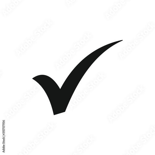 Fotomural checkmark icon symbol vector illustration