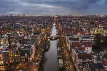 Amsterdam City Canals At Dusk ...