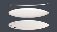 White Custom Surfboard Top, Fr...