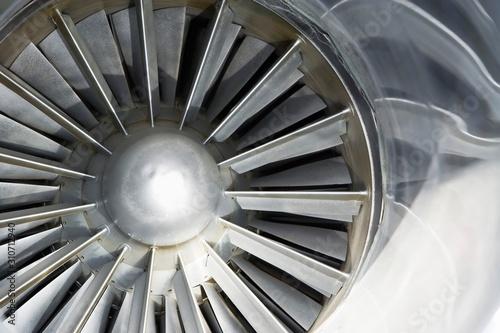 Photo Turbine Of An Airplane