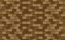Brown Roof Tiles Seamless Patt...