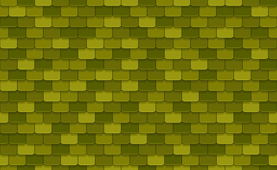 Green roof tiles seamless pattern