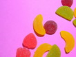 Leinwanddruck Bild - background of colorful candy
