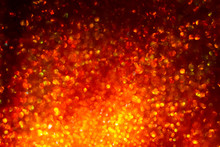 Abstract Christmas Background. Red Fiery Glare. Bokeh