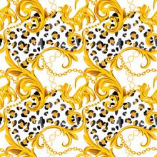 Golden Baroque Ornament Design...