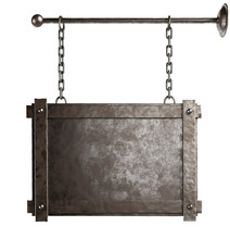 Metal Sign Plate With Chains I...