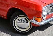 Soviet Retro Vintage Red Car