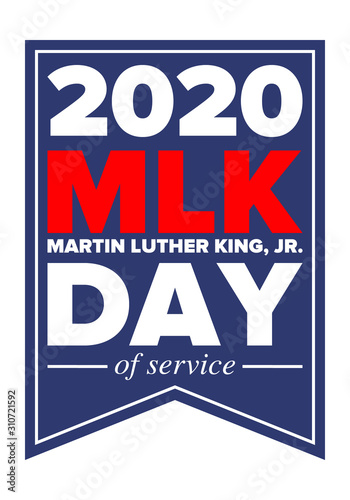 MLK day of service Wallpaper Mural