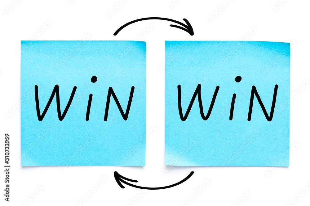 Valokuva Win-Win Strategy Concept On Sticky Notes