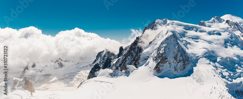 Obraz Stock photo of the Mont Blanc top - fototapety do salonu