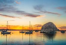 Saiboats In Morro Bay, California