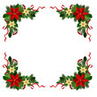 Vector. Christmas decoration: evergreens frame isolated