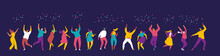 Dancing People Flat Vector Set...