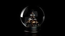 Glass Snow Globe With Christma...