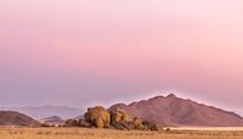 Boulders In The Namibian Deser...