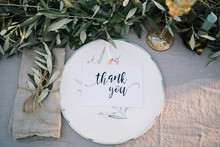 Thank You Text On A Plate