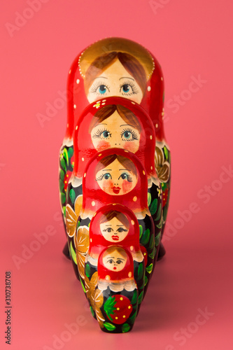 Photo Russian folk wooden doll