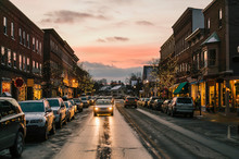 Twilight Downtown Main Street ...