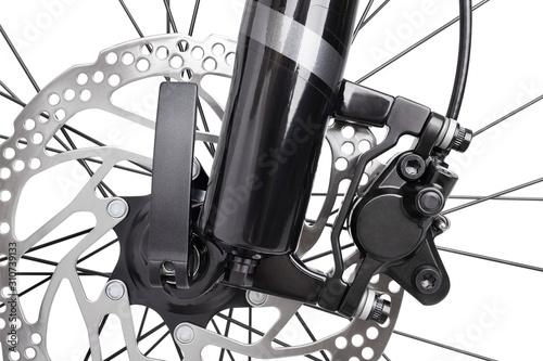 Obraz bike front wheel brakes - fototapety do salonu