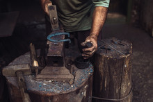 Man Working In The Blacksmith