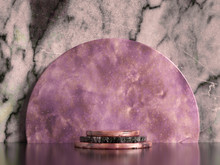 Beautiful, Elegant, Abstract Background With Metal And The Texture Of Stone, Marble And Granite. 3d Illustration, 3d Rendering.