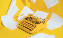 Yellow Office Typewriter