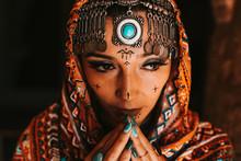 Studio Portrait Of Bedouin Woman