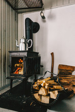 Rustic Cabin Time - Logs Burni...
