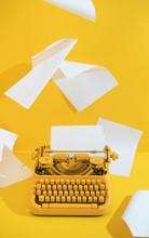 Yellow Office Typewriter