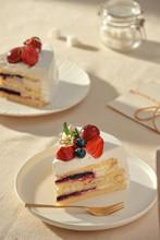 White Cake With Strawberry