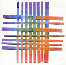 Rainbow Paper Stripes Woven Co...