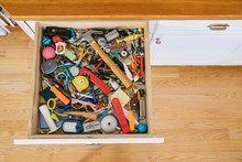 Junk Drawer At Home With Screwdriver