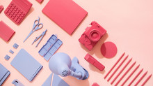 Office Supplies / Stationary /Red And Blue
