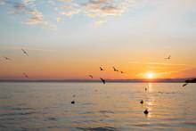 Sunset On Lake Of Garda, Italy...