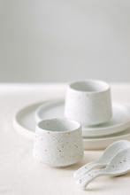 Set Of White Minimal Tableware.