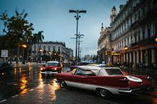 Old-Timer Cars In Havana, Cuba