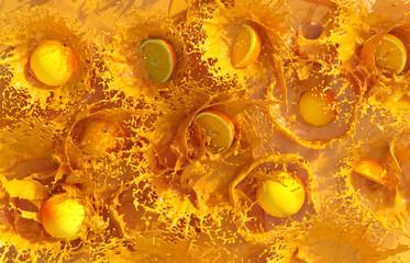 Oranges in fresh orange juice