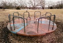 Old, Sad And Rusty Playground Equipment
