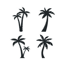 Tropical Palm Trees Icon Templ...