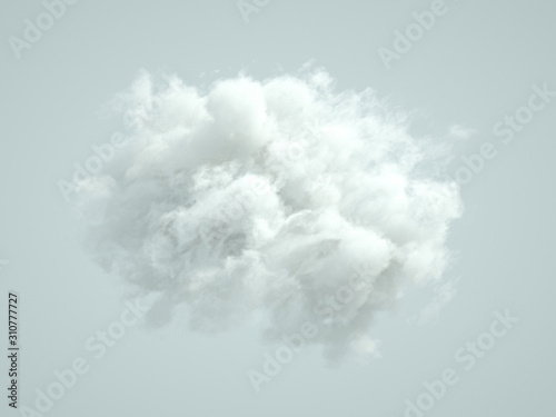 Cloud isolated, steam, smoke. 3d illustration, 3d rendering. - 310777727